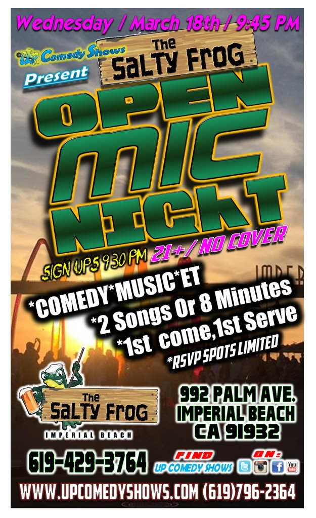 TSF Open Mic 3.18.15 poster